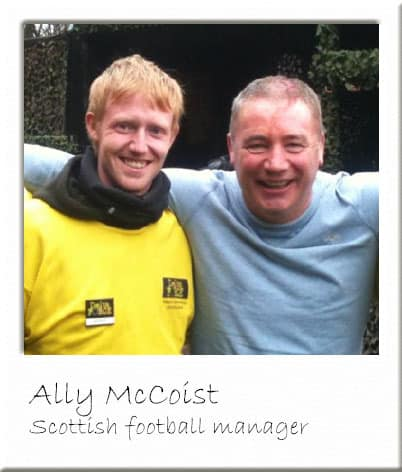 Ally McCoist at Paintball Scotland