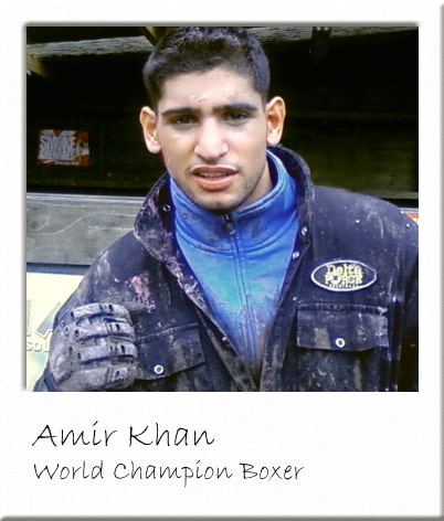 Amir Khan at Surrey Paintball