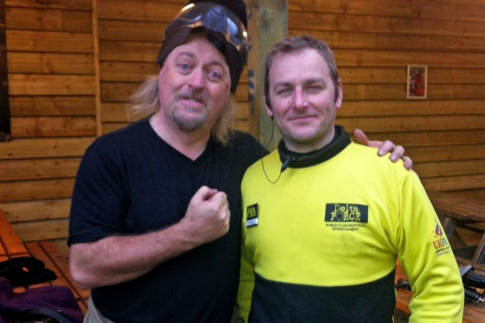 Bill Bailey poses with Delta Force marshal