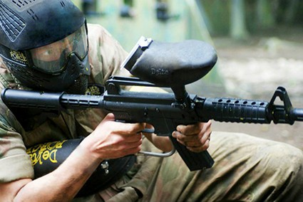 bolton paintball with m16