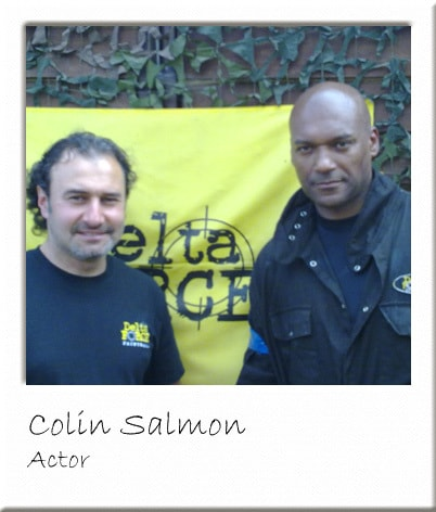 Colin Salmon at Cobham Paintball