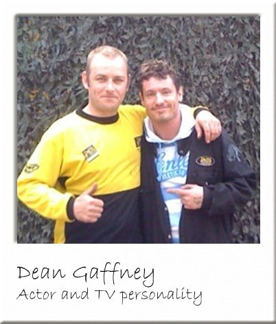 Dean Gaffney Posing With Paintball Centre Manager