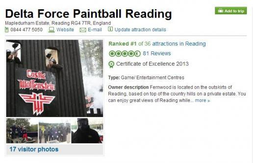 Delta Force Reading paintball centre top attraction on TripAdvisor