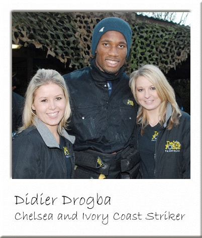 Didier Drogba in Paintball Cobham