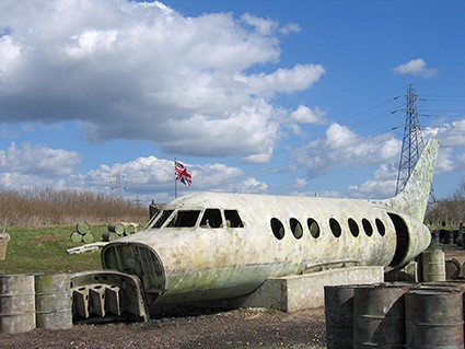 Fighter jet prop for a game zone in East London Paintball centre
