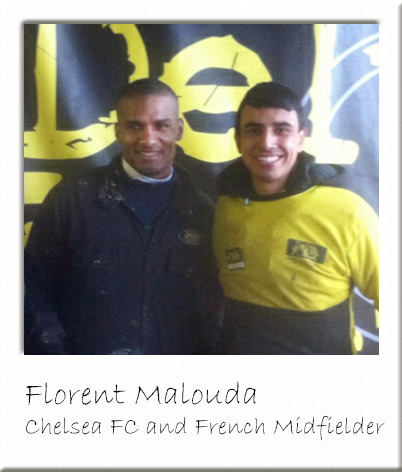 Florent Malouda with Paintball Marshal