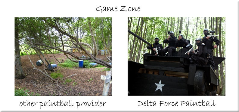 Game zone comparison tank