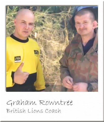 Graham Rowntree with Paintball Centre Manager