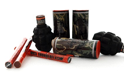 Delta Force smoke and flash-bang grenades