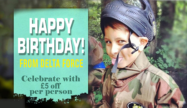 happy birthday from delta force 5 pound off per person