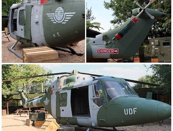 Helicopter at Paintball Basecamp