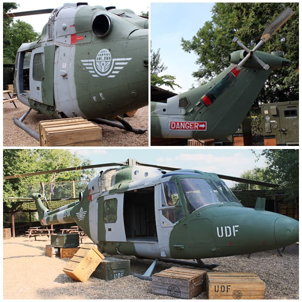 Side Lynx Helicopter At Delta Force Base Camp
