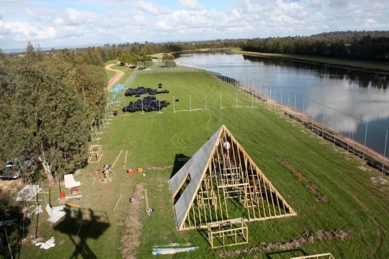Pyramid under construction in Perth centre
