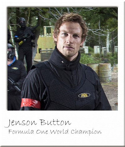 Jenson Button as Delta Force Paintball