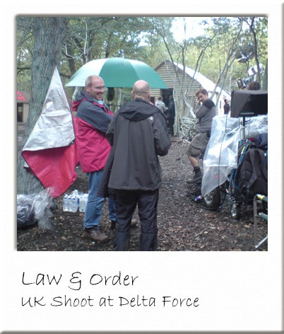 Law and Order Filming at Delta Force Paintball