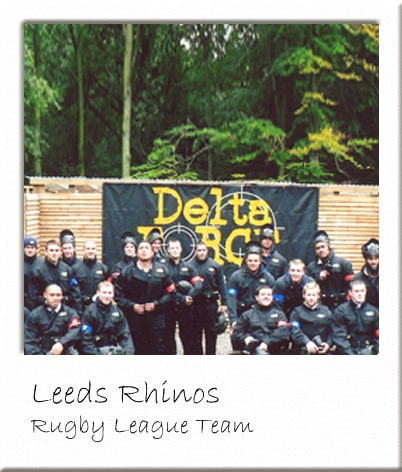 Leeds Rhinos Team at Paintball Leeds