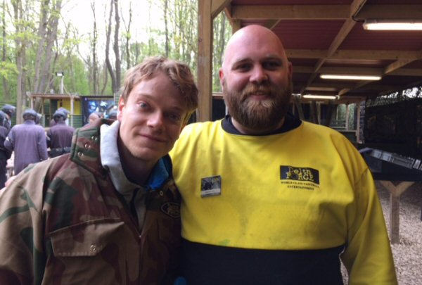 Alfie Allen Poses In Delta Force Kit With Staff