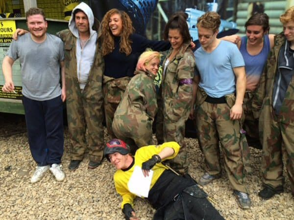 Lily Allen Delta Force Paintball Group