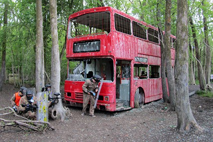 London Bus Game Zone at Paintball Cobham