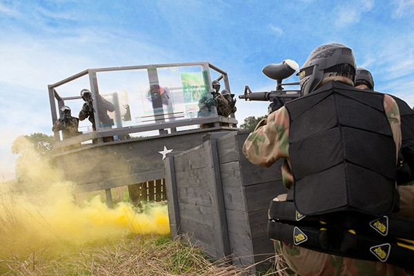 Manchester Paintballing Kids Birthday Party Action Shot