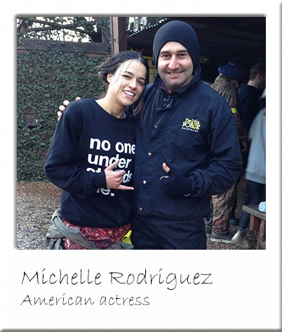 Michelle Rodriguez at Paintball Surrey