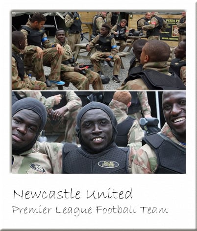 Newcastle United Footballers at Delta Force Paintball Newcastle