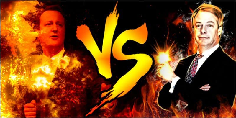 Nigel Farage vs David Cameron Paintball Battle
