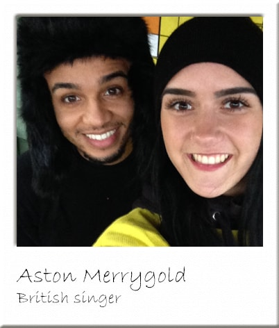 Aston Merrygold with Paintball Marshal