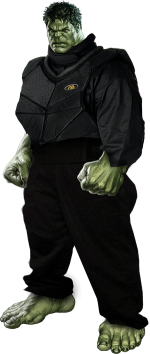 Hulk in Delta Force overalls
