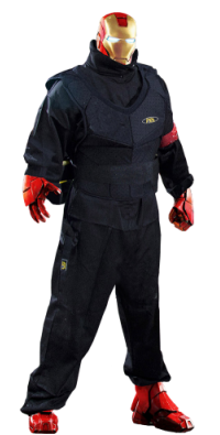 Iron Man in Delta Force overalls