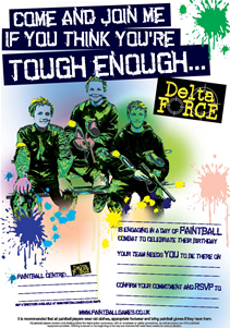 Paintball invitation - 'tough enough'