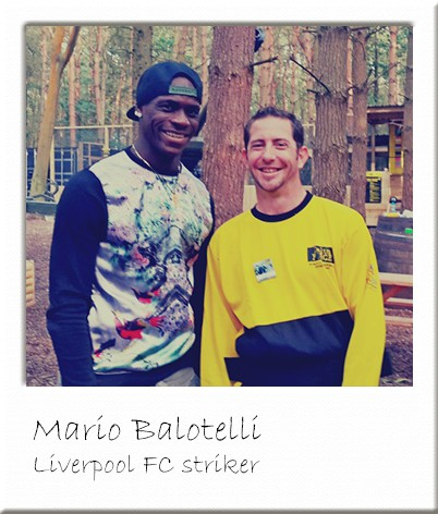 Mario Balotelli at Paintball Manchester