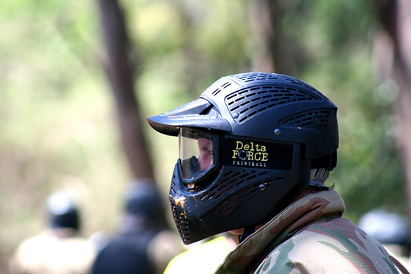 Paintballer with Full Head Goggles