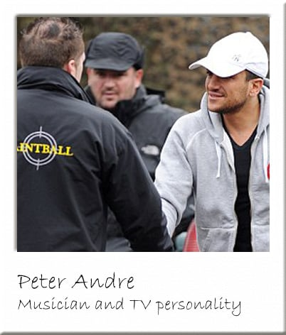 Peter Andre at Paintball Centre