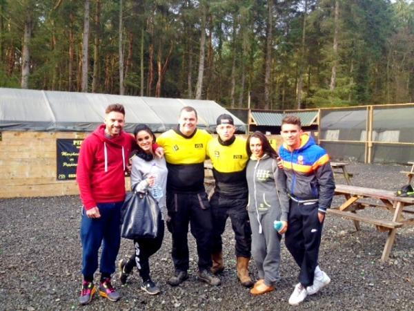 'Geordie Shore' cast with marshals