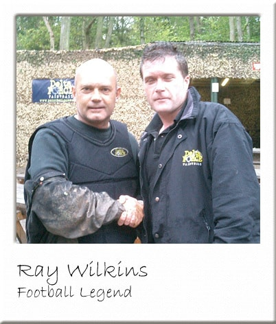Ray Wilkins Posing with Paintball Manager