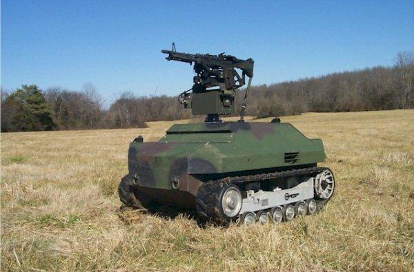 Portable Sentry Gun In Field