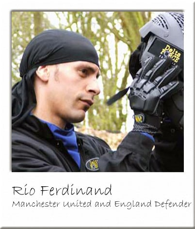 Rio Ferdinand with Paintball Goggles