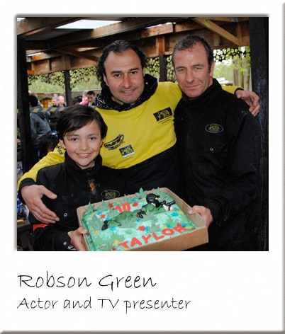 Robson Green Celebrating Birthday at Paintball Surrey Centre