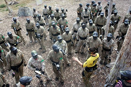 paintball marshal guiding team rochdale