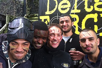 paintball players stag party rochdale