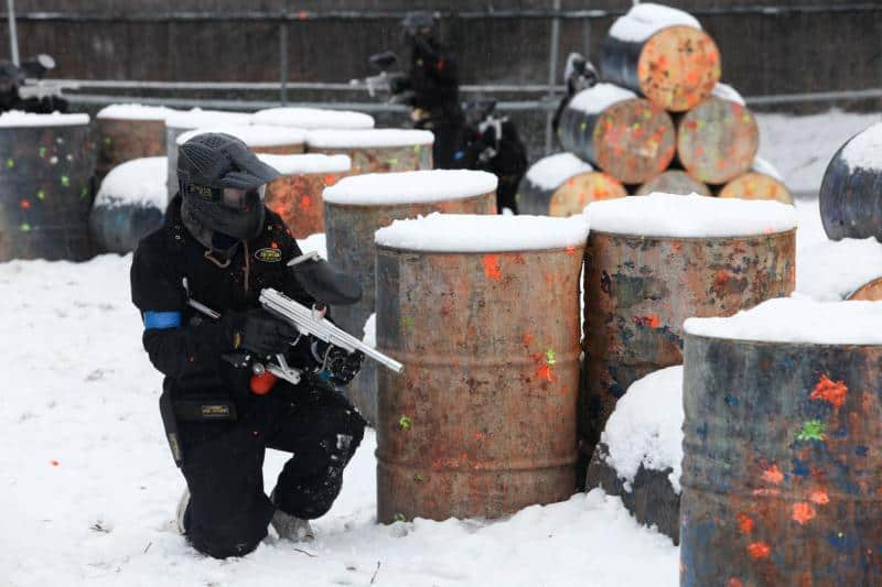 Paintballing in Snowy Conditions