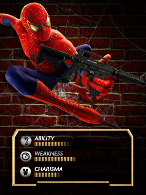 Spiderman superhero paintball