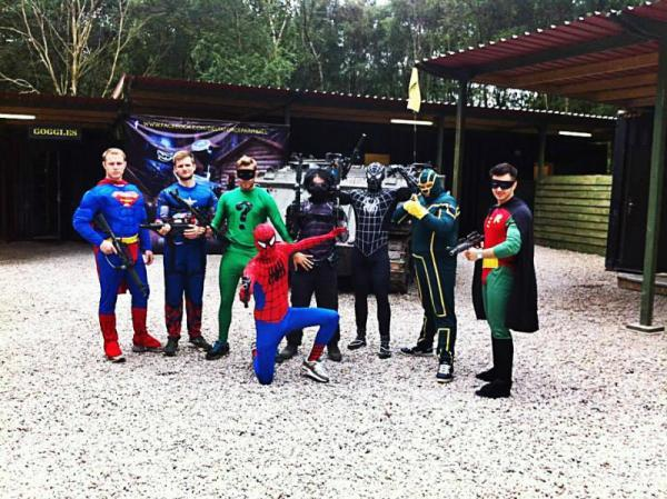 superheros at delta force paintball