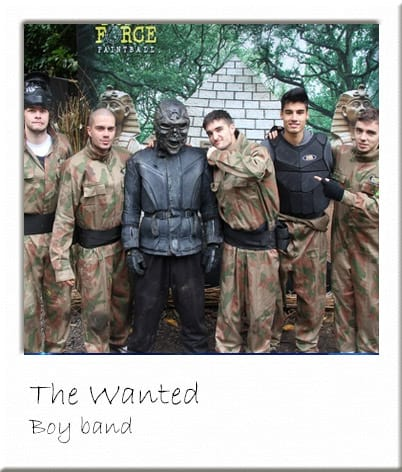 The Wanted Posing With Paintball Terminator