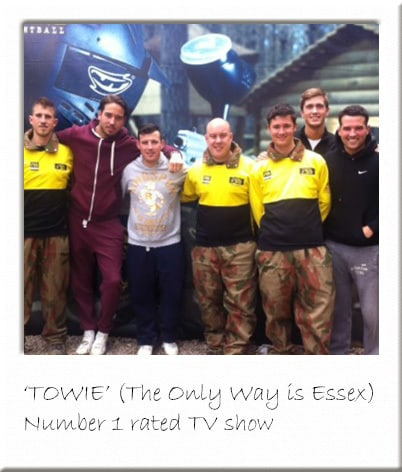 TOWIE at Paintball Centre