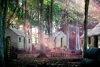 Viet Cong village huts