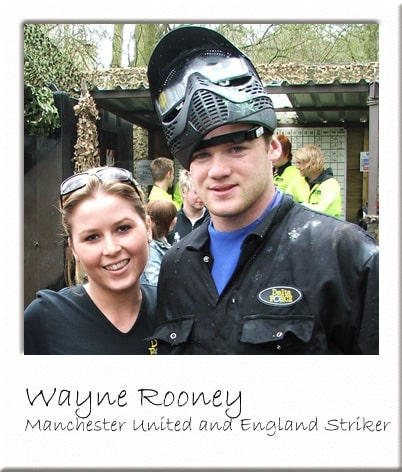 Wayne Rooney at Paintball Manchester