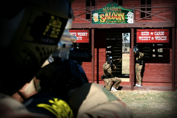 delta force paintball game zone - wild west