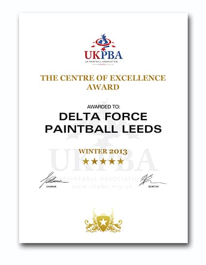 UKPBA Centre of Excellence Award Leeds